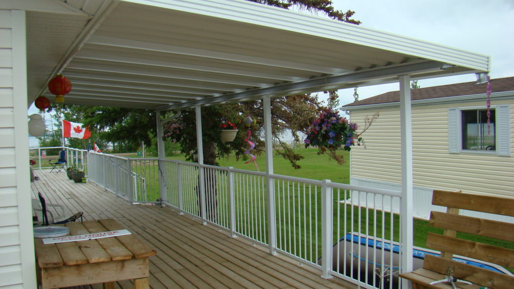 Top mount deck railing example