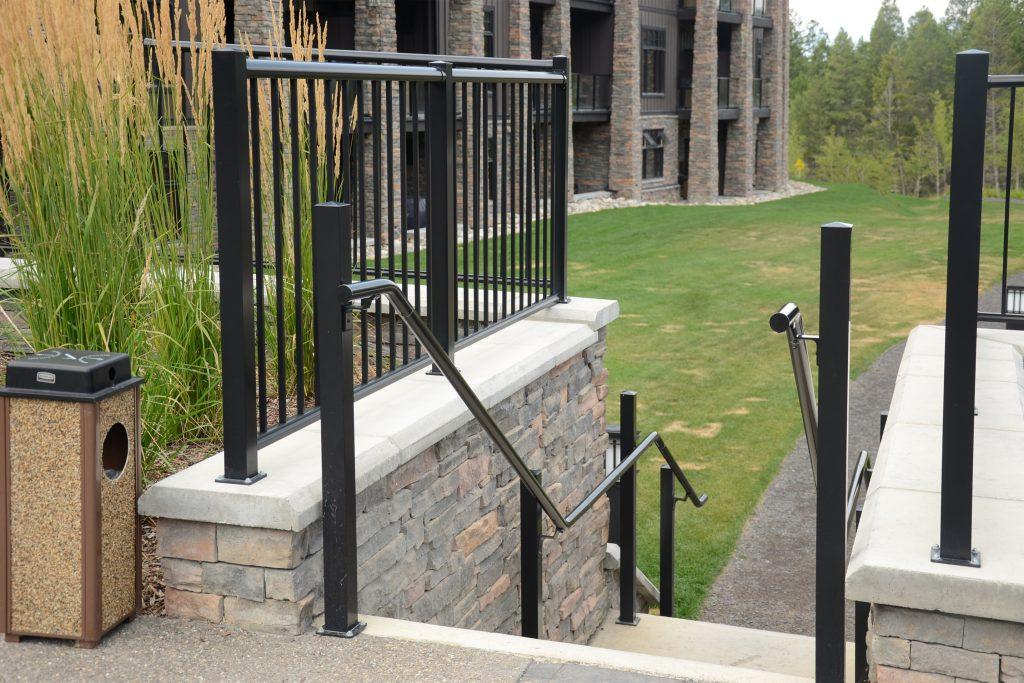 pipe handrail aluminum