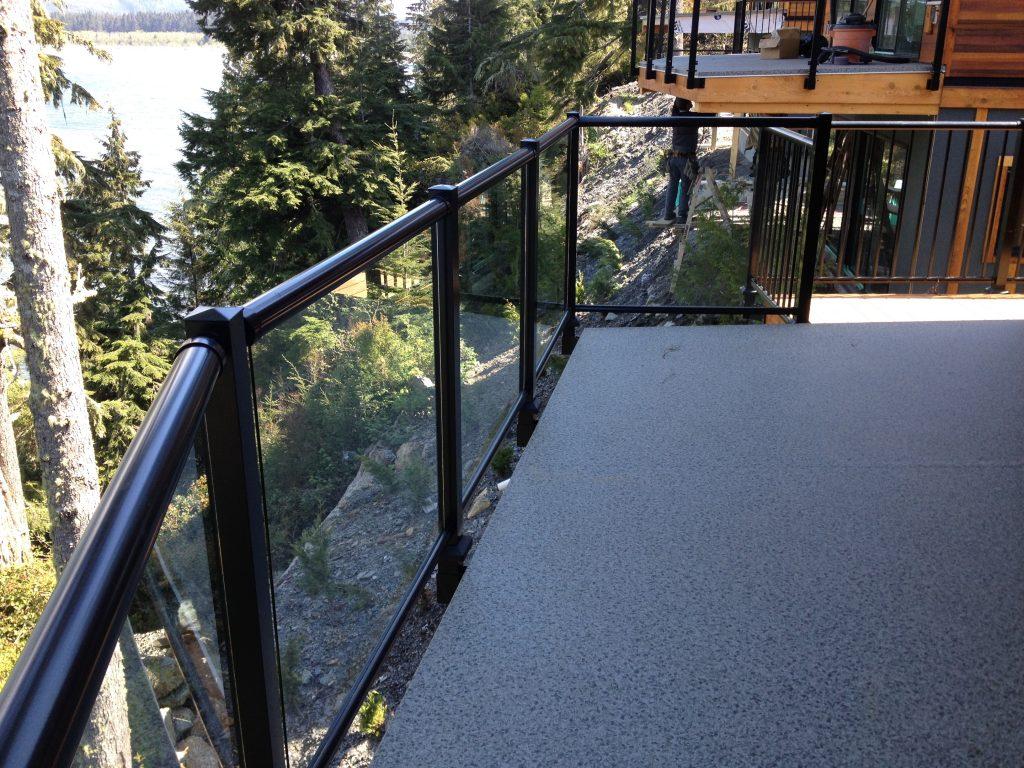 fascia mount glass railing