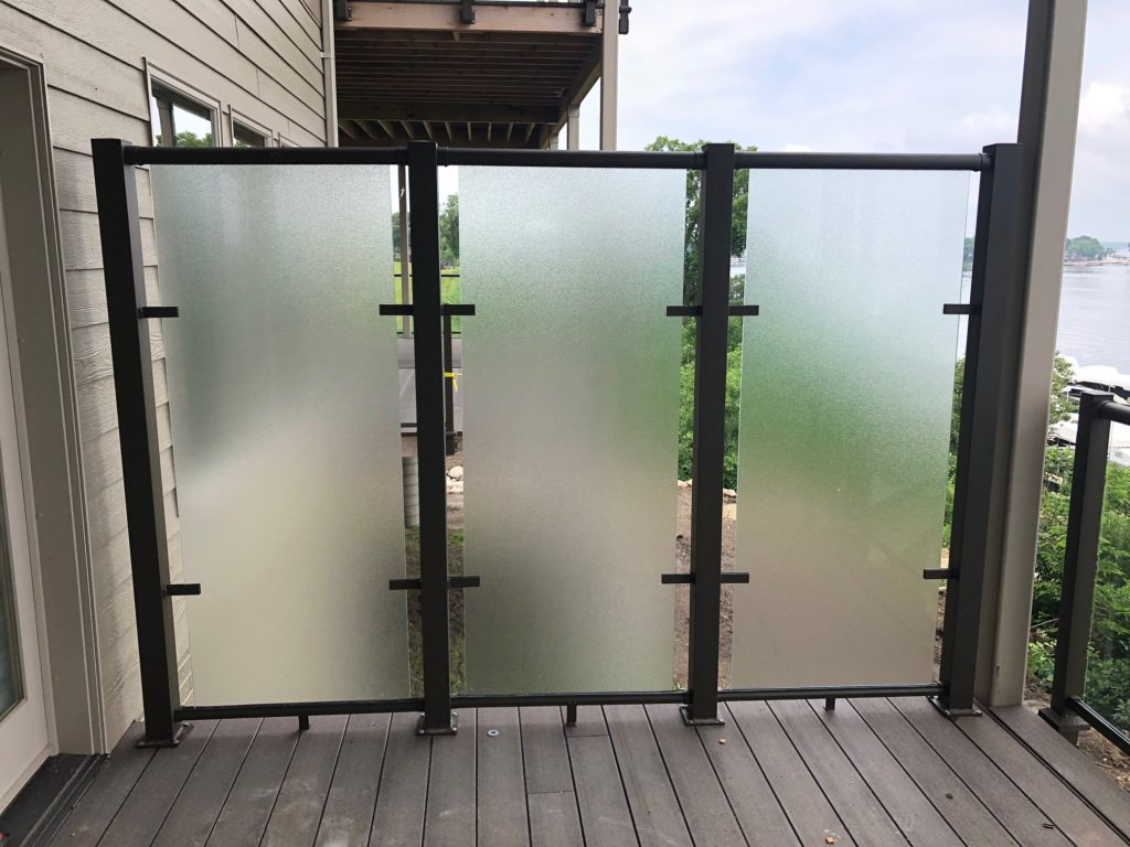 privacy wall for a deck or patio