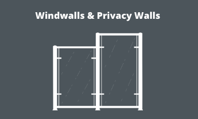 Windwalls and privacy walls