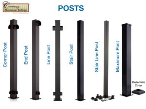 Aluminum Railing Posts
